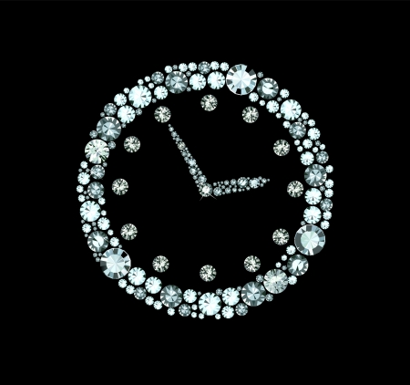 Diamond Clock Vectores