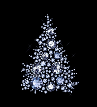 sparkles: Christmas Tree made of gems Illustration
