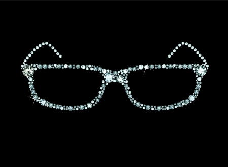 Diamond Glasses Vector