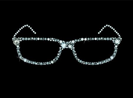 Diamond Glasses Stock Vector - 23516882