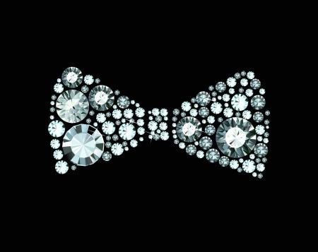 tie bow: Diamante Papillon