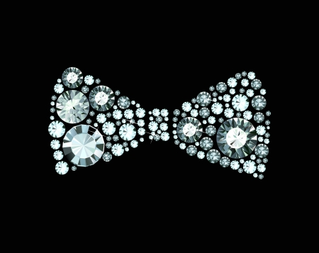 official wear: Diamond Bow Tie