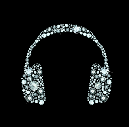 Diamond Headphones Vector
