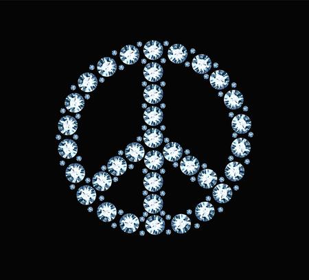 Diamond Peace Symbol Illustration