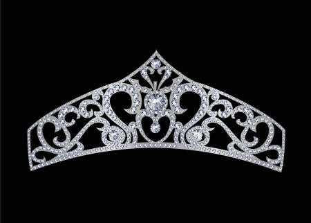 exuberance: tiara decorated with jewels