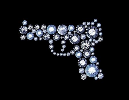 gun made of diamonds