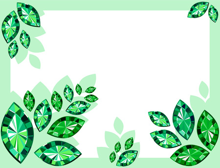 topaz: Abstract Background With Emeralds