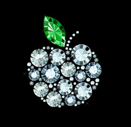 Diamond Apple Illustration