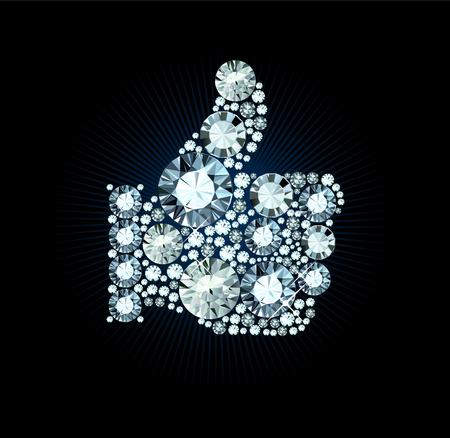 seguito: Diamond Like pollice fino segno Vettoriali