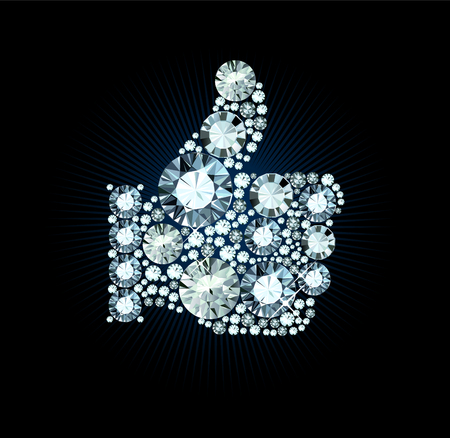appraise: Diamond Like Thumb Up Sign