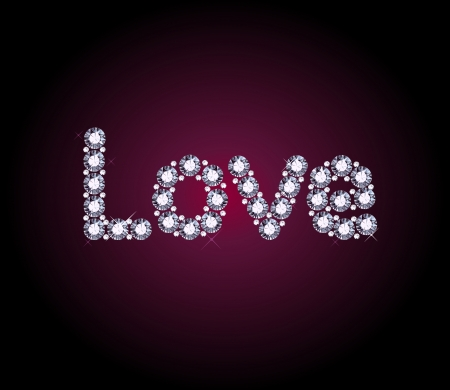 Diamond Love Word