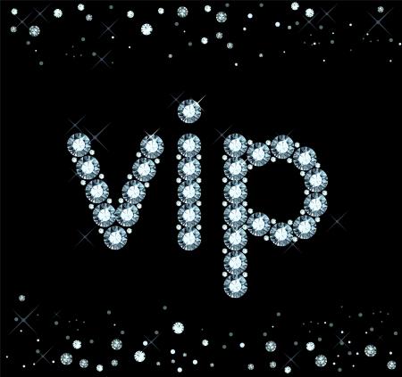 Diamond Vip Sign Vector