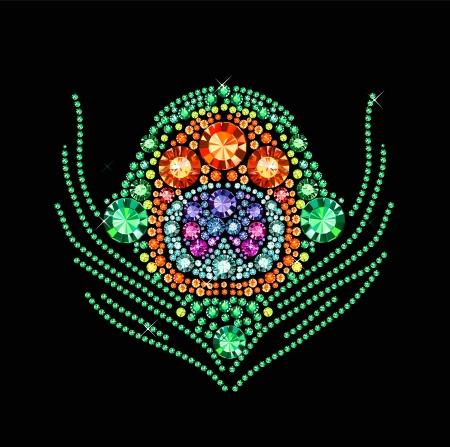 pluma de pavo real: Diamond pluma del pavo real