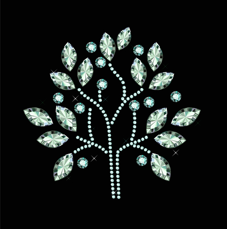 Diamond Fruit Tree Vector