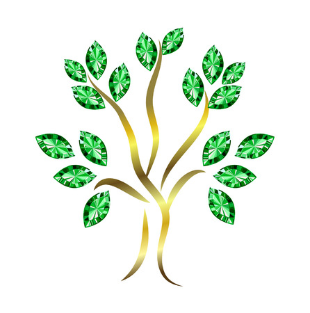 Emerald Tree Vector