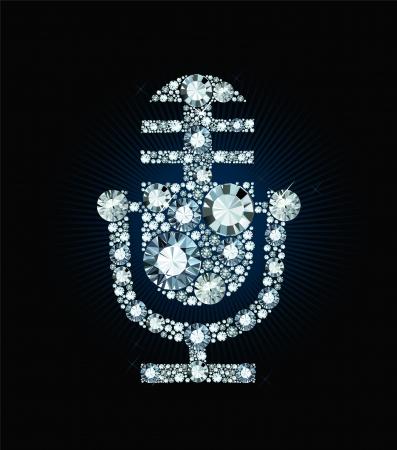 Diamond Microphone Vector