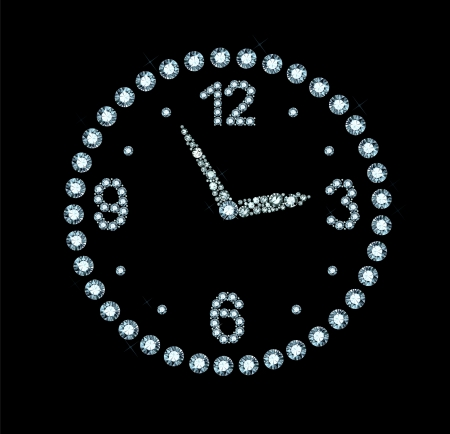 Diamond Clock Vector