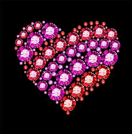 Gem Heart Vector
