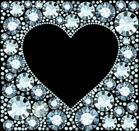 coeur diamant: Diamant cadre de coeur Illustration