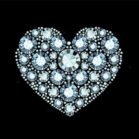 coeur diamant: Coeur de diamant Illustration