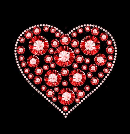 Gem Heart Stock Vector - 24931402