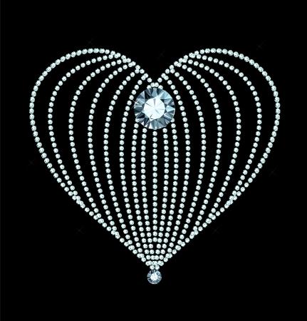 rich couple: Diamond Heart Illustration