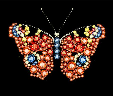 peacock butterfly: Gem Peacock Butterfly