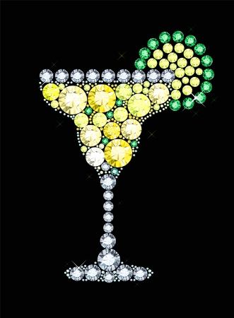 Diamond Cocktail Vector