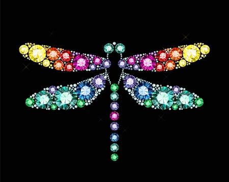 宝石のトンボ