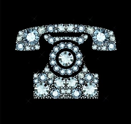 Diamond Telephone Vector
