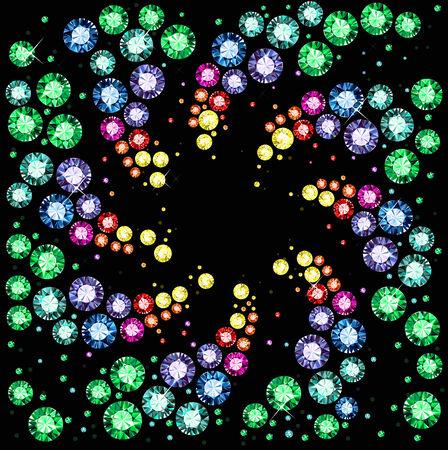 Gem Background Illustration