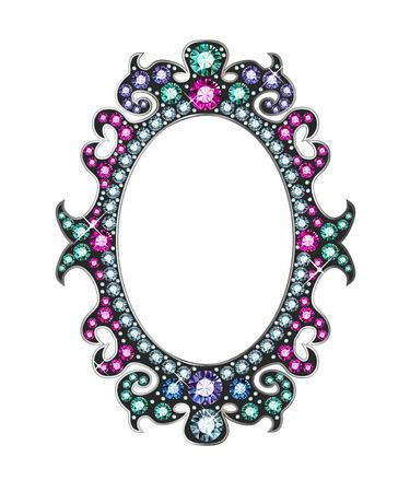 Gem Mirror Frame