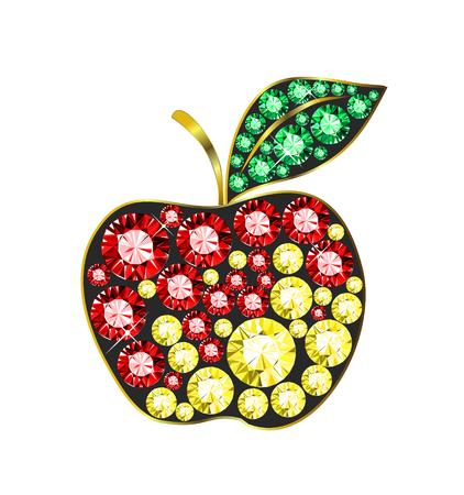 Gem Apple Illustration