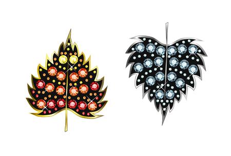 Diamond Leafs Vector