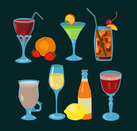 facer: Set of colorful cocktails