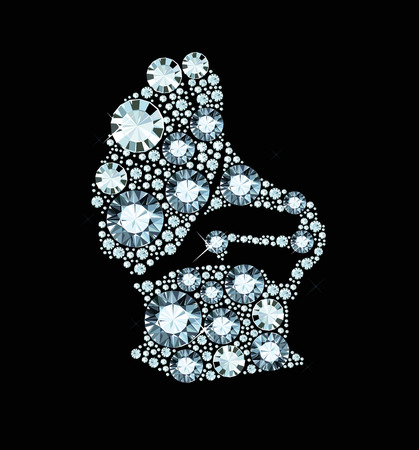 Diamond vintage gramophone 向量圖像