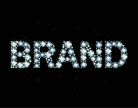 exuberance: Word brand made of diamonds