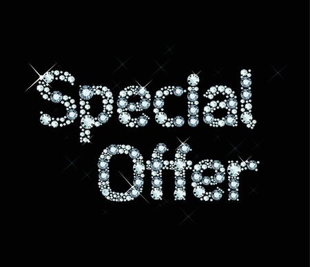 Word Special Offer made of diamonds