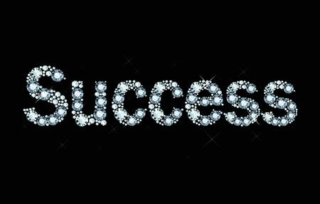 exuberance: Word Success made of diamonds
