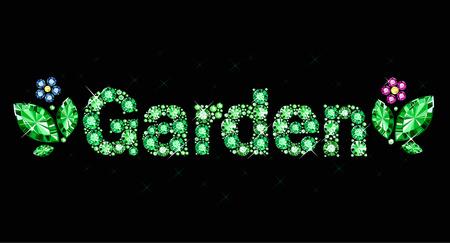 exuberance: Gem word garden Illustration
