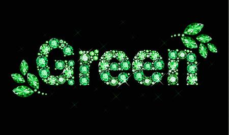 exuberance: Gem word green