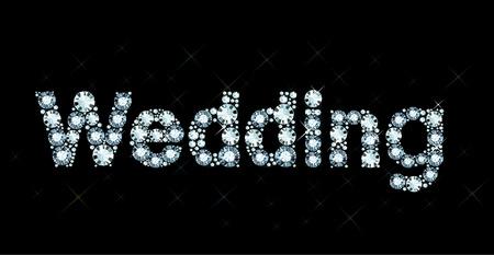 exuberance: Diamond word wedding