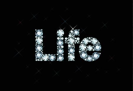 exuberance: Diamond word life Illustration