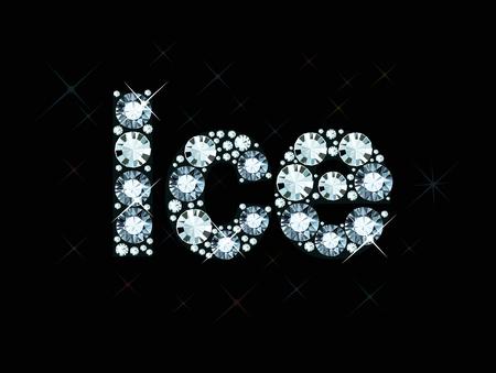 exuberance: Diamond word ice