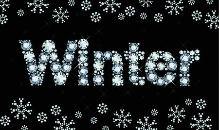 exuberance: Diamond word winter