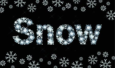 exuberance: Diamond word snow