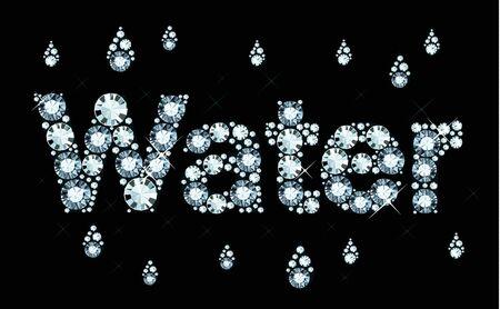 Diamond Word Water Illustration