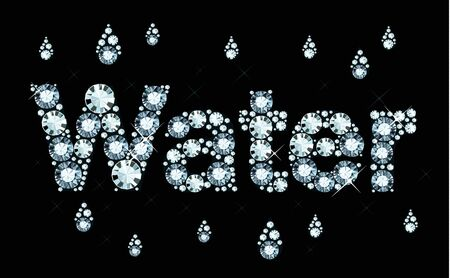 exuberance: Diamond Word Water Illustration