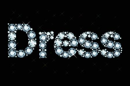 Diamond word dress