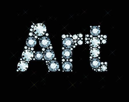 exuberance: Diamond Word Art Illustration